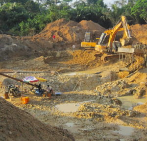 A gold mine run by Chinese at Obuasi, more than two hours' drive from Kumasi, the second largest city in Ghana.