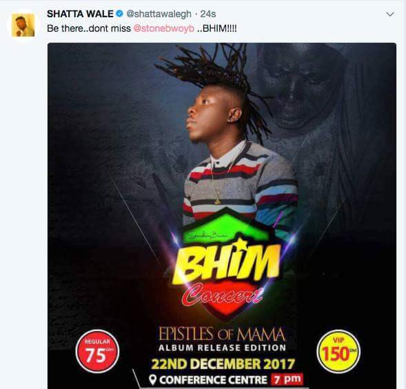Stonebwoy readies for 'Bhim Concert' at AICC on Dec 22 after