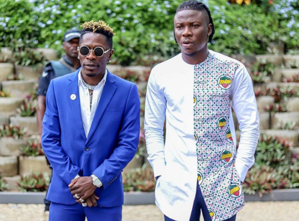 Shatta Wale with Stonebwoy in his Bhim fabric